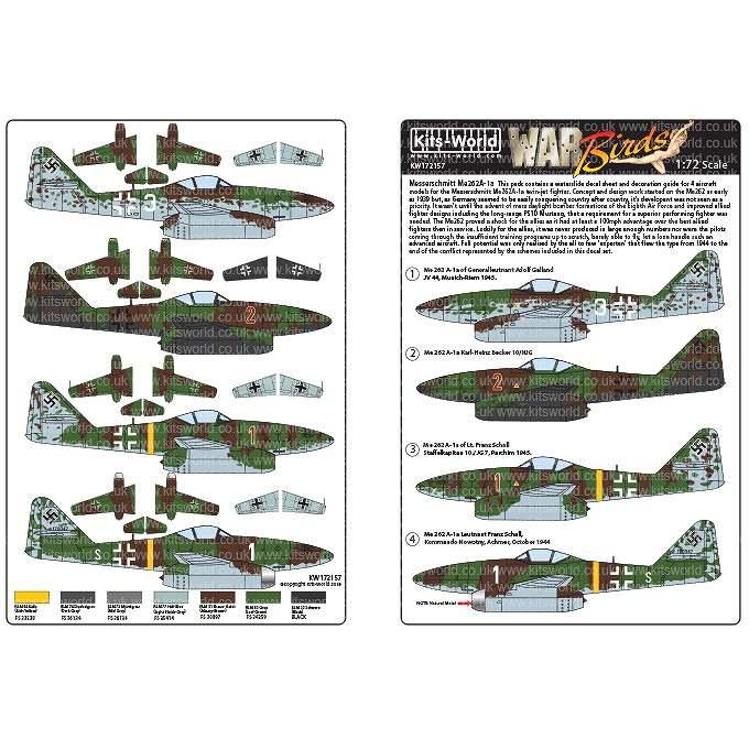 【新製品】KW72157 メッサーシュミット Me262A-1a