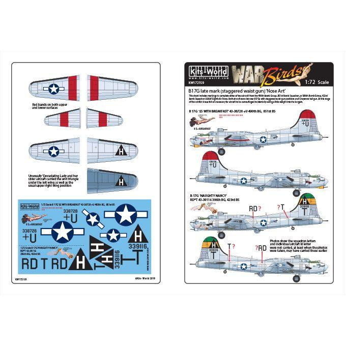 【新製品】KW172159 ボーイング B-17G フライングフォートレス