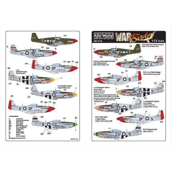 【新製品】KW172179 ノースアメリカン P-51B/D マスタング