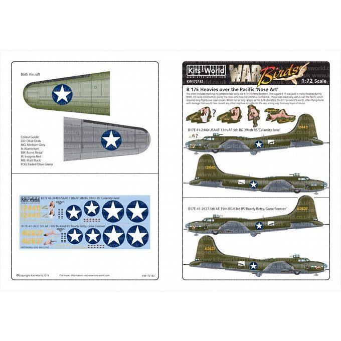 【新製品】KW172182 ボーイング B-17E フライングフォートレス ノーズアート