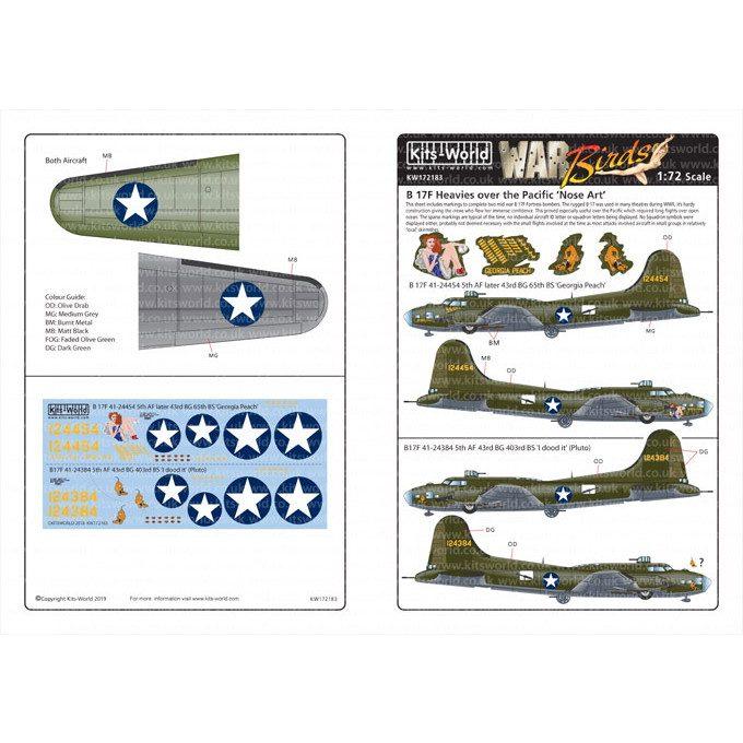 【新製品】KW172183 ボーイング B-17F フライングフォートレス ノーズアート
