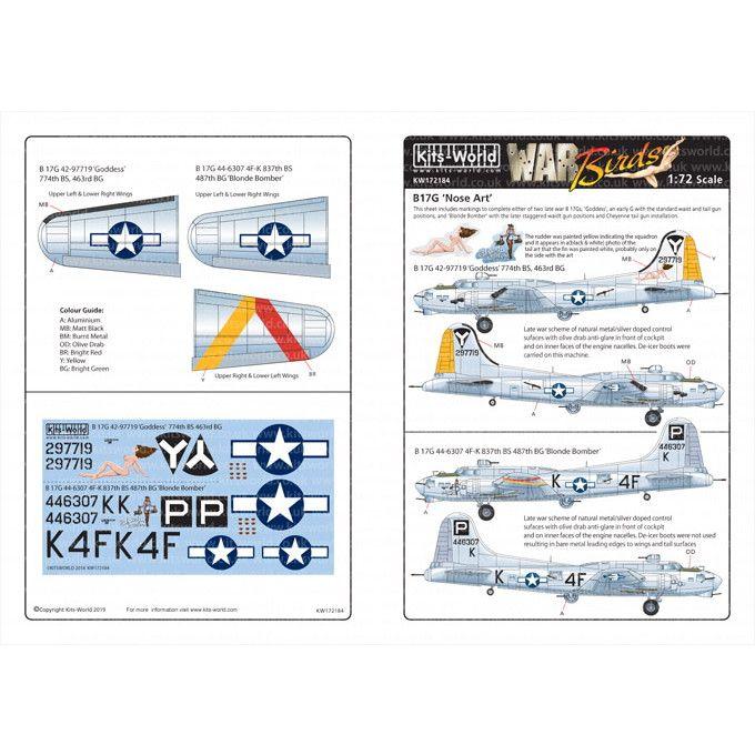 【新製品】KW172184 ボーイング B-17G フライングフォートレス ノーズアート