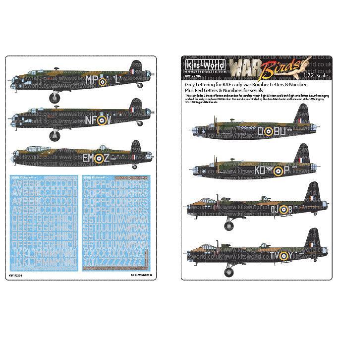 【新製品】KW72204 WWII初期 イギリス空軍 爆撃機用グレーレター