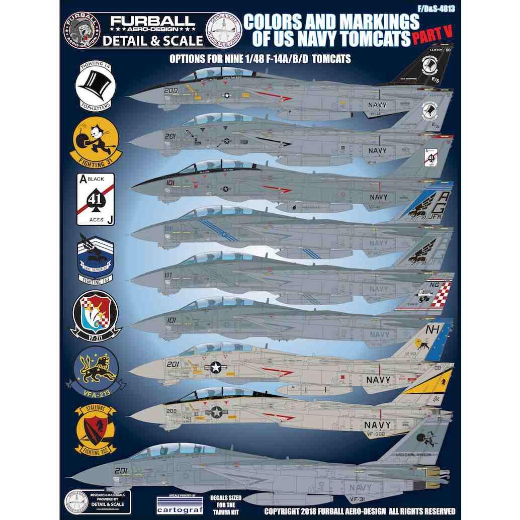 【新製品】ディテール&スケール F/D&S-4813 F-14A/B/D トムキャット Pt.5