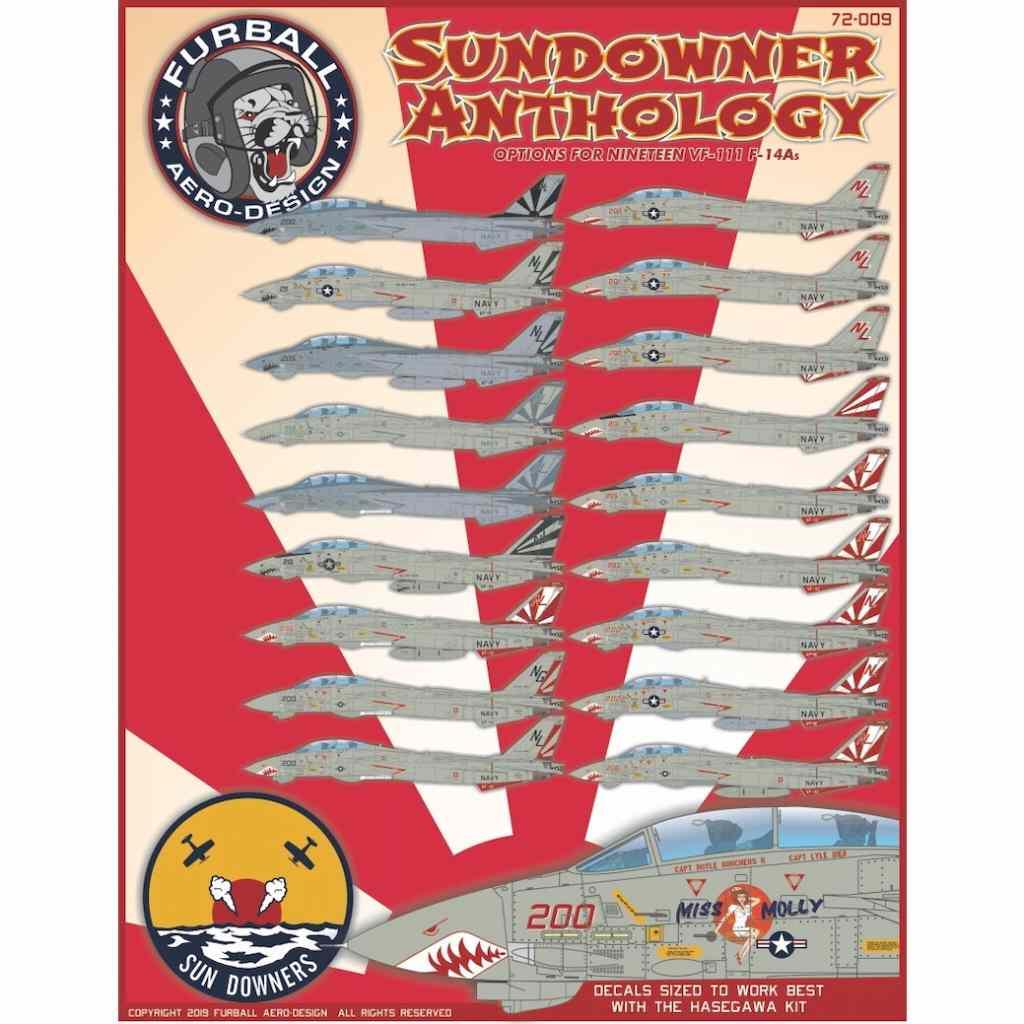 【新製品】72-009 アメリカ海軍 F-14A トムキャット VF-111 サンダウナーズ
