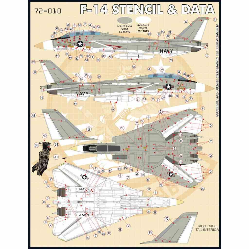 【新製品】72-010 F-14 トムキャット ステンシル&データ