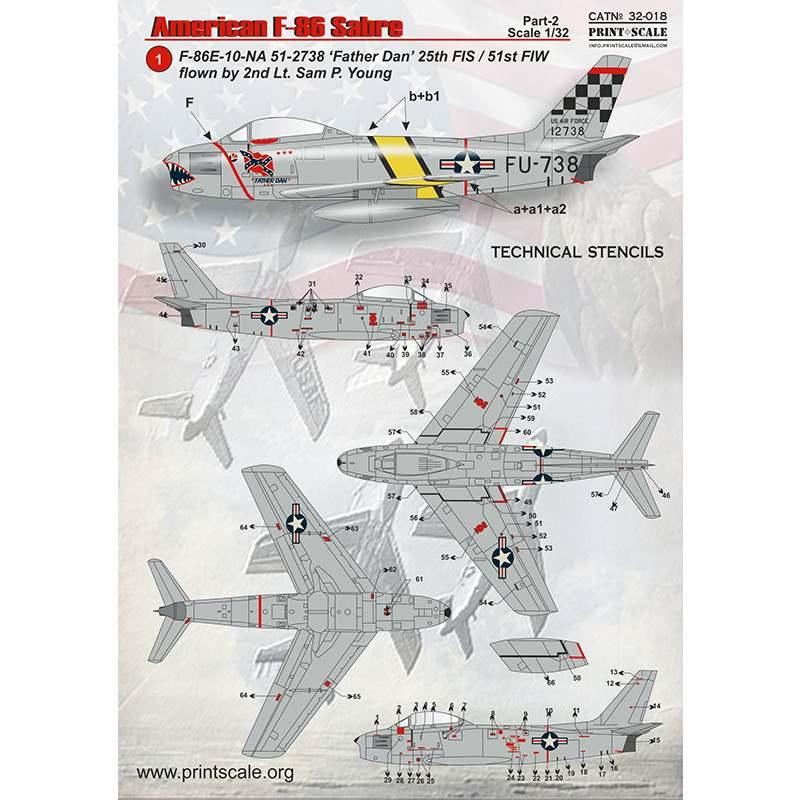 【新製品】32018 ノースアメリカン F-86 セイバー Pt.2