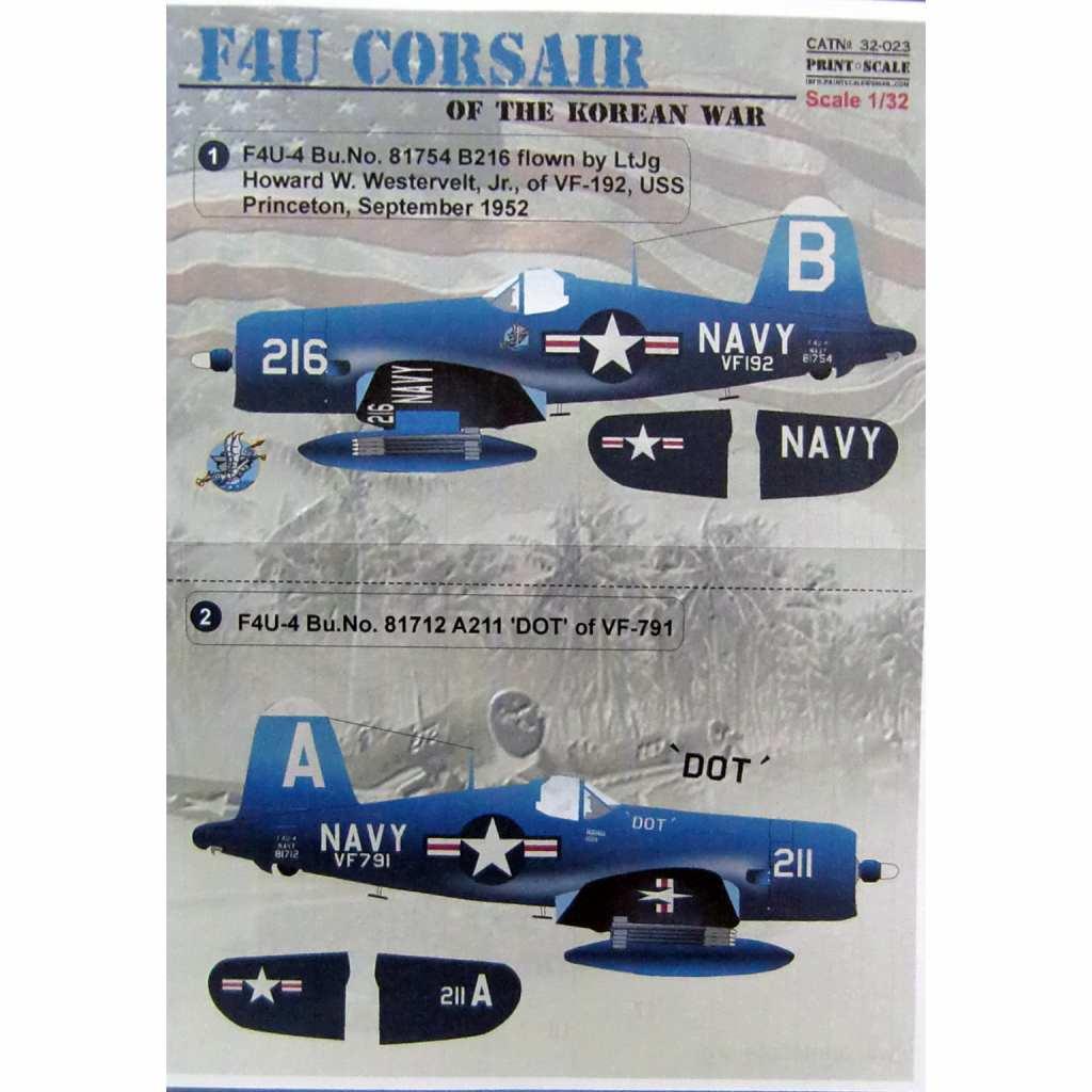 【新製品】32023 ヴォート F4U コルセア 朝鮮戦争