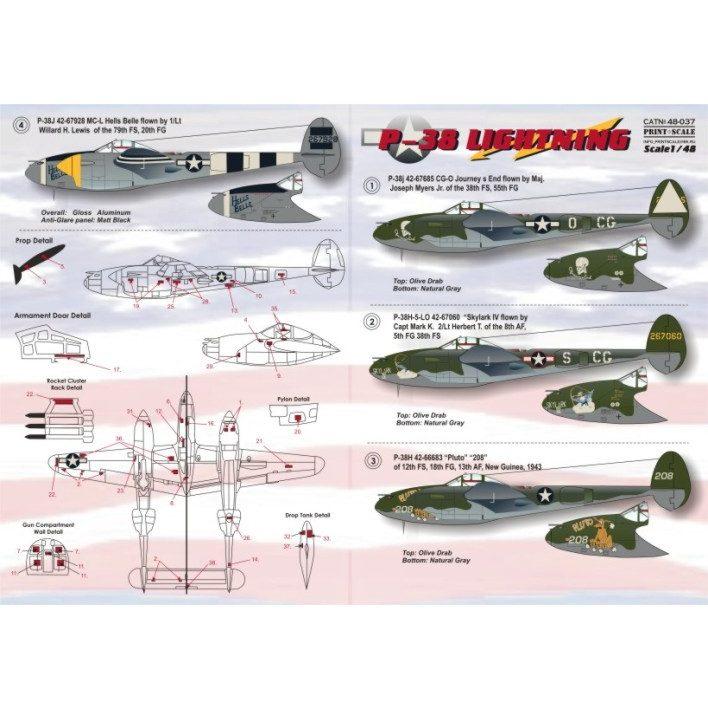 【新製品】48037)ロッキード P-38H/J ライトニング