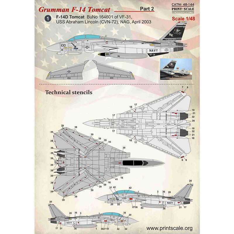 【新製品】48144 グラマン F-14 トムキャット Part.2
