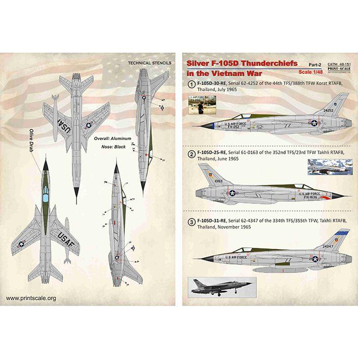 【新製品】48151 リパブリック F-105D サンダーチーフ ベトナム戦争 Pt.2