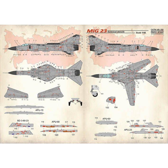 【新製品】48152 ミグ MiG-23 フロッガー ステンシル