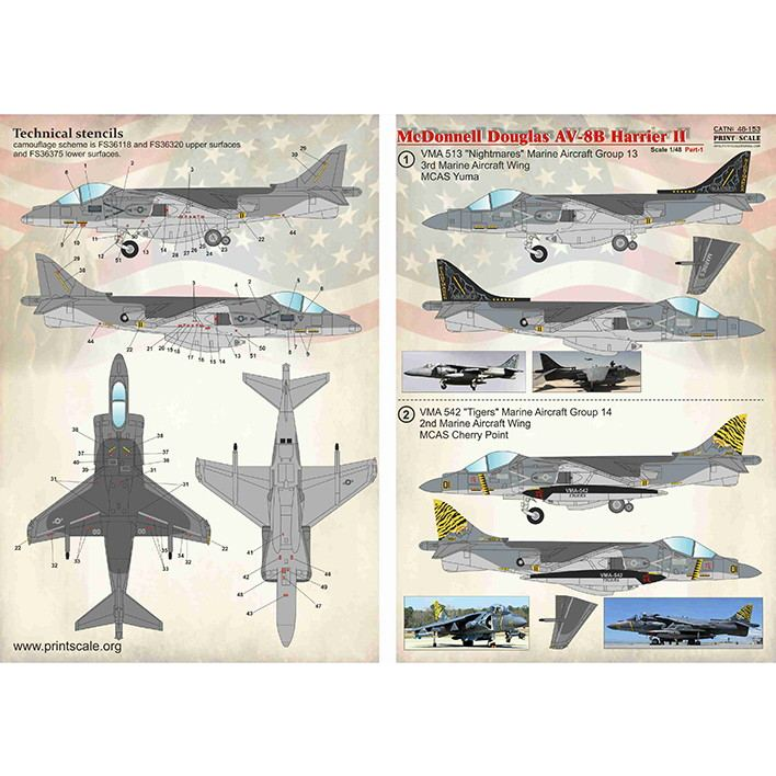 【新製品】48153 マクドネル・ダグラス AV-8B ハリアーII Pt.1