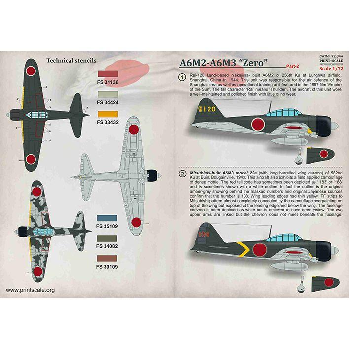 【新製品】72344 A6M2-A6M3 零式艦上戦闘機二一型二二型 Part.2