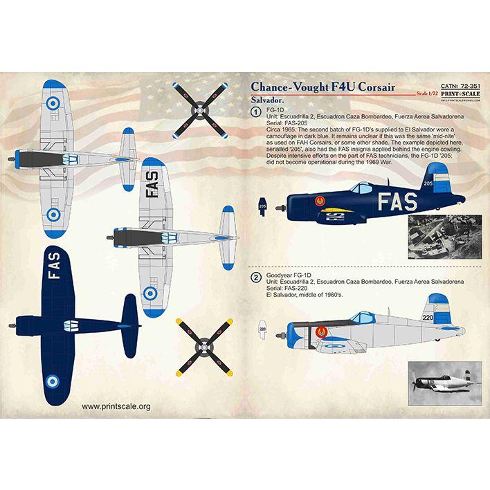 【新製品】72351 チャンス・ヴォート F4U コルセア