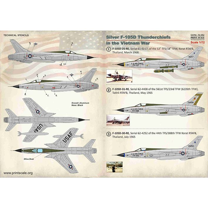 【新製品】72352 リパブリック F-105D サンダーチーフ ベトナム戦争