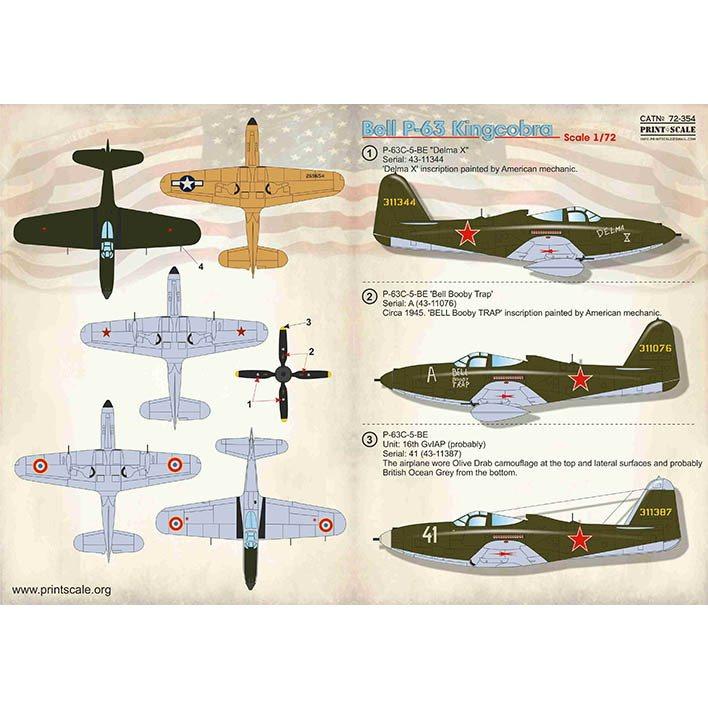 【新製品】72354 ベル P-63 キングコブラ