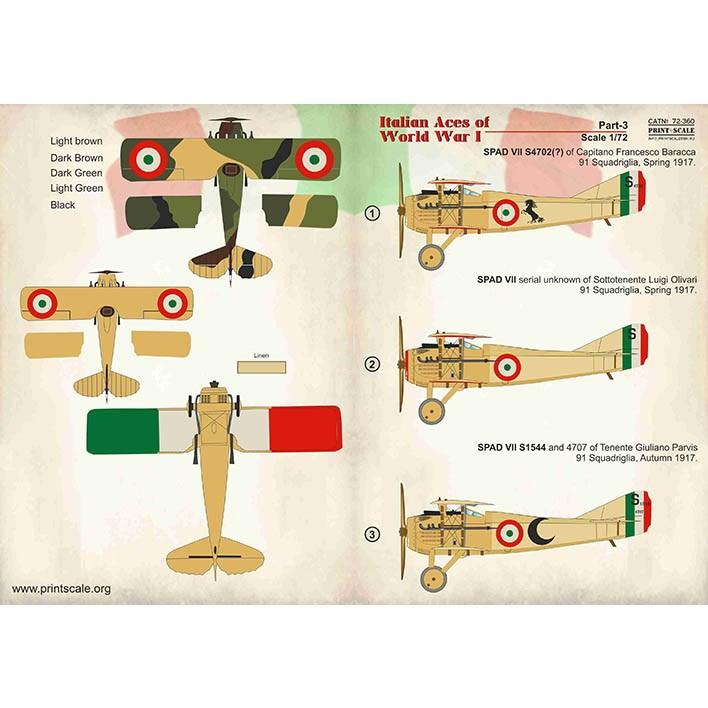 【新製品】72360 WWI イタリア空軍エース Pt.3