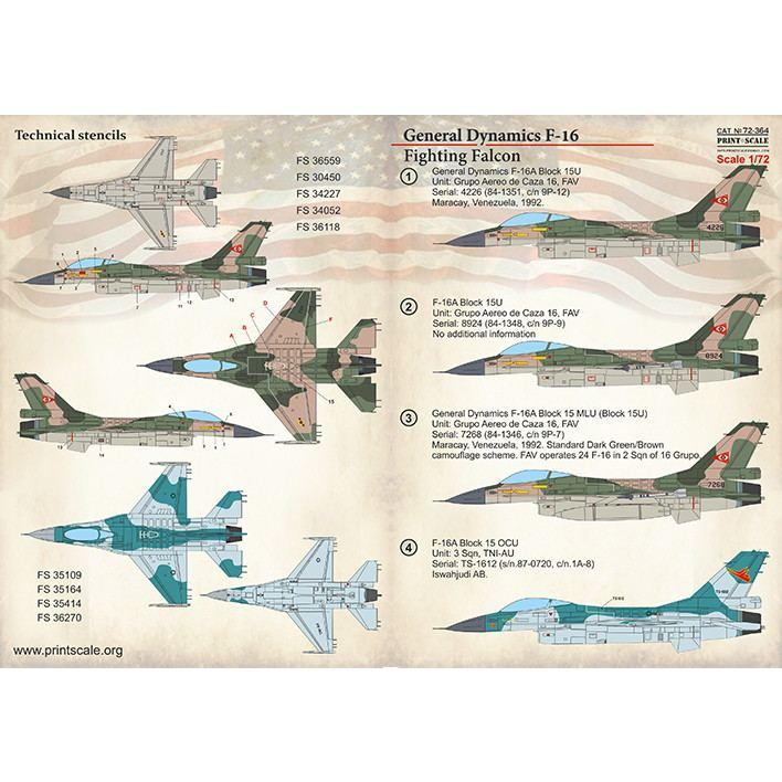【新製品】72364 ジェネラル・ダイナミクス F-16 ファイティングファルコン