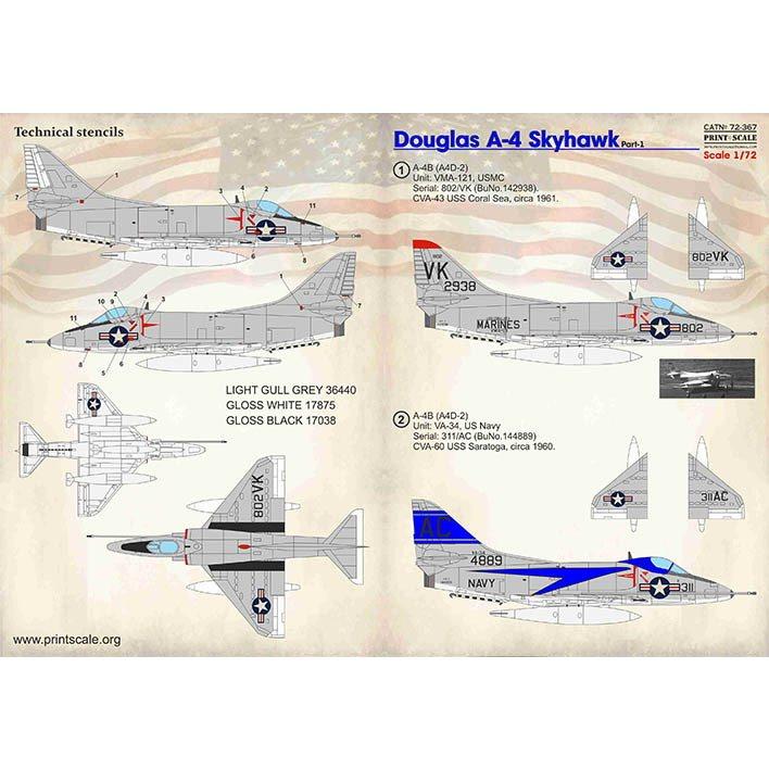 【新製品】72367 ダグラス A-4 スカイホーク Pt.1