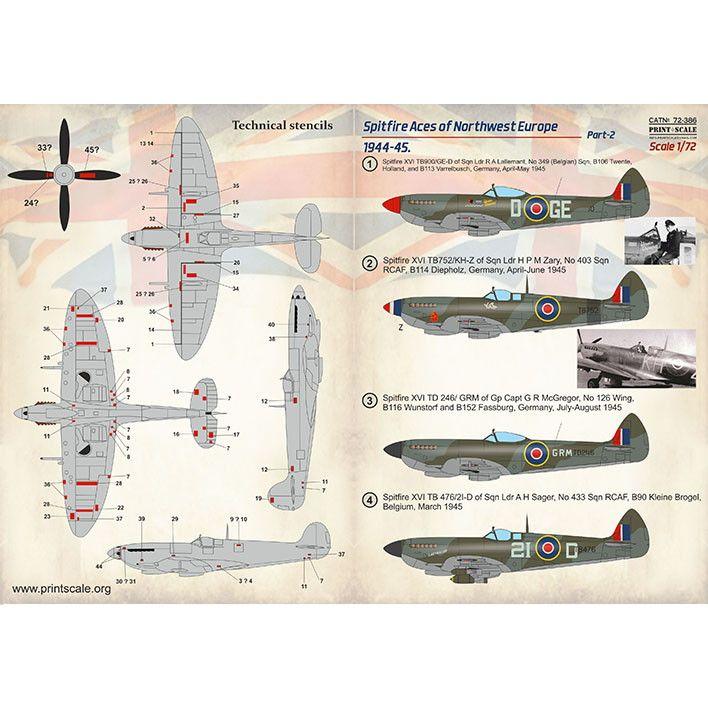 【新製品】72386 スーパーマリン スピットファイア 北西ヨーロッパのエース機 1944-45 Pt.2