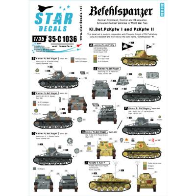 【新製品】35-C1036)WWII 独 I/II号指揮戦車 デカールセット