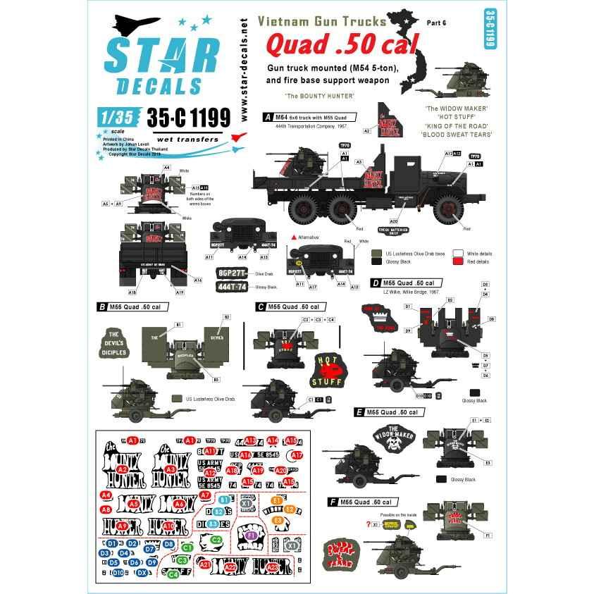 【新製品】35-C1199 ベトナム戦争 米陸軍 ガントラック#6 四連装M2銃座搭載のガントラック バウンティーハンター
