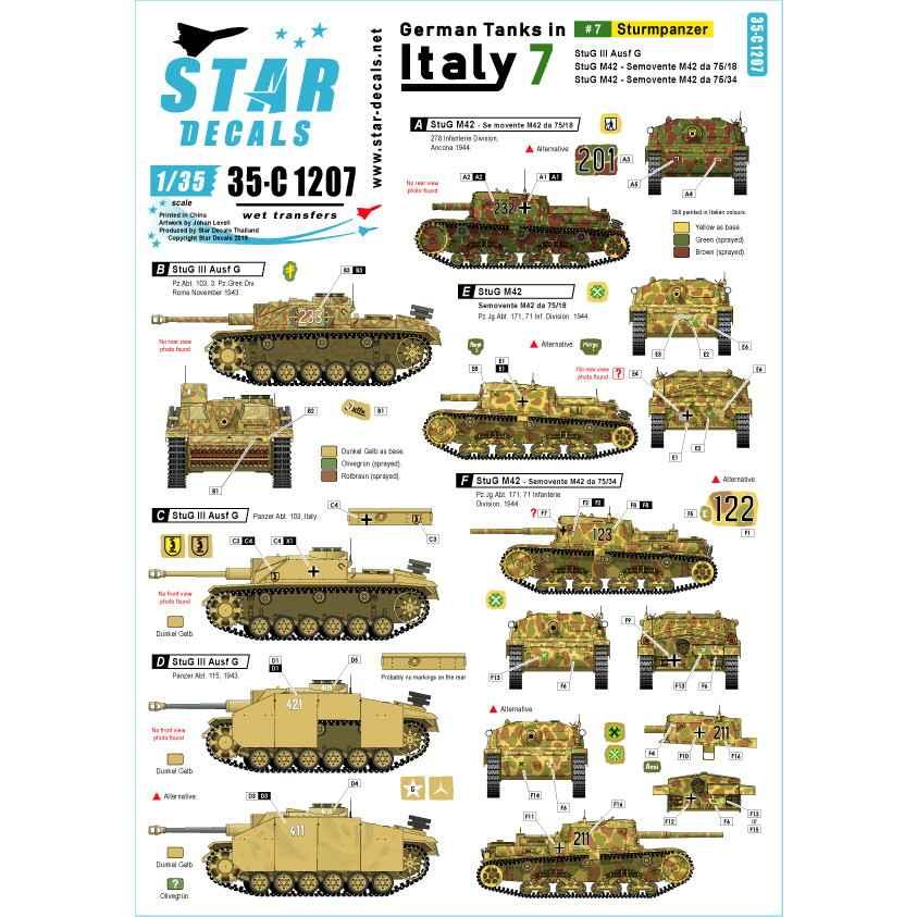 【新製品】35-C1207 WWII 独 イタリア戦線のドイツ戦車#7 III号突撃砲G型 セモベンテda75/18 75/34