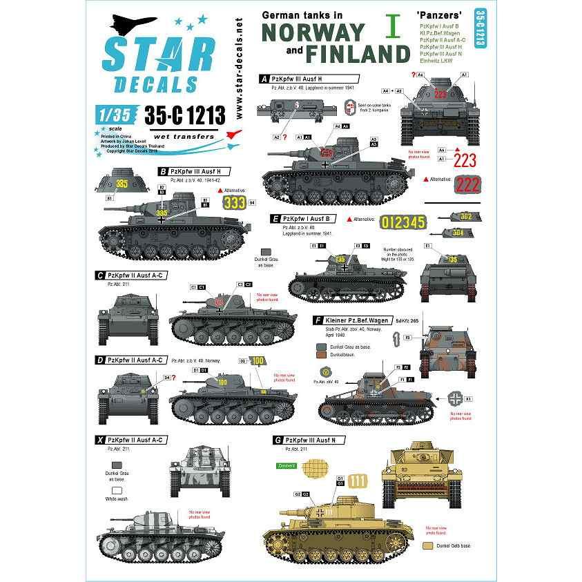 【新製品】35-C1213 WWII 独 ノルウェーとフィンランドに進駐したドイツ戦車 #1