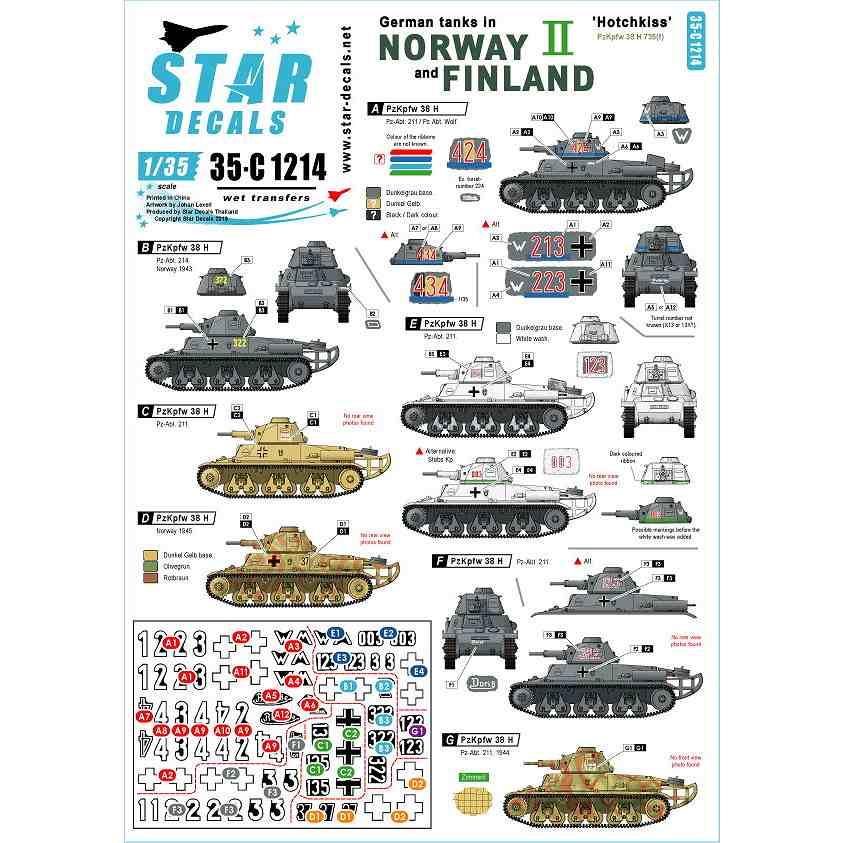 【新製品】35-C1214 WWII 独 ノルウェーとフィンランドに進駐したドイツ戦車 #2