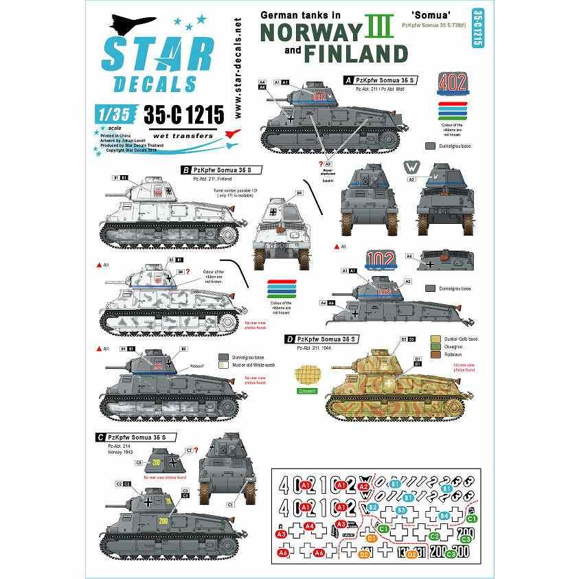【新製品】35-C1215 WWII 独 ノルウェーとフィンランドに進駐したドイツ戦車 #3