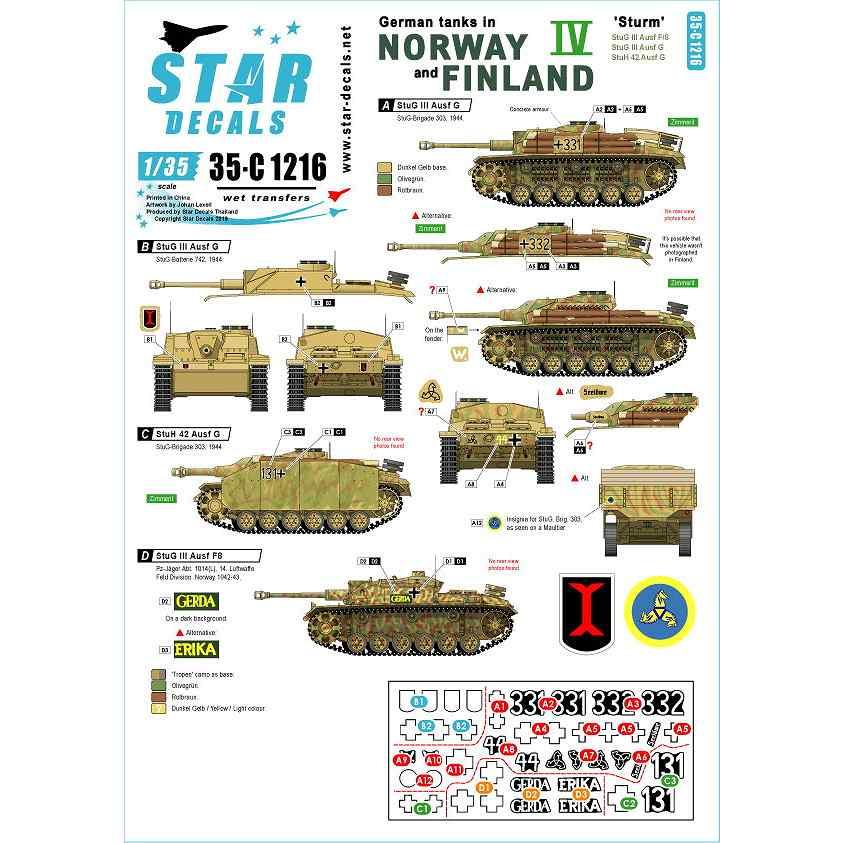 【新製品】35-C1216 WWII 独 ノルウェーとフィンランドに進駐したドイツ戦車 #4