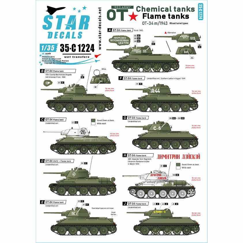 【新製品】35-C1224 WWII ロシア/ソ連 ソビエト赤軍 OT-34火炎放射戦車
