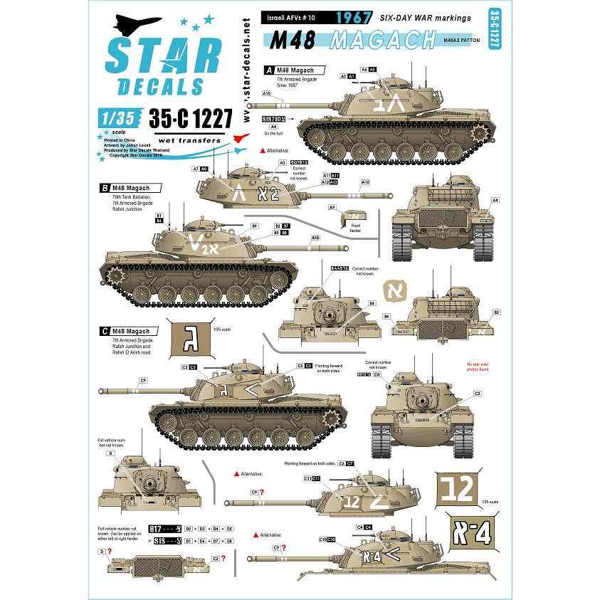 【新製品】35-C1227 IDF イスラエルのAFV #10 1967年 六日間戦争 M48マガフ/M48A2パットン
