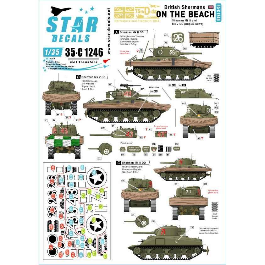 【新製品】35-C1246 WWII 上陸直後の英軍シャーマン戦車 D-ディ75周年スペシャル DDシャーマン戦車MkI/V