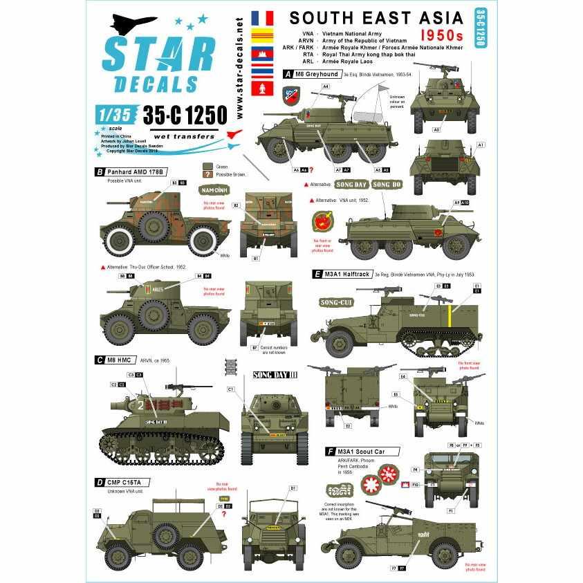 【新製品】35-C1250 東南アジア 1950年代 WWII以降のインドシナAFV集 仏/ベトナム他
