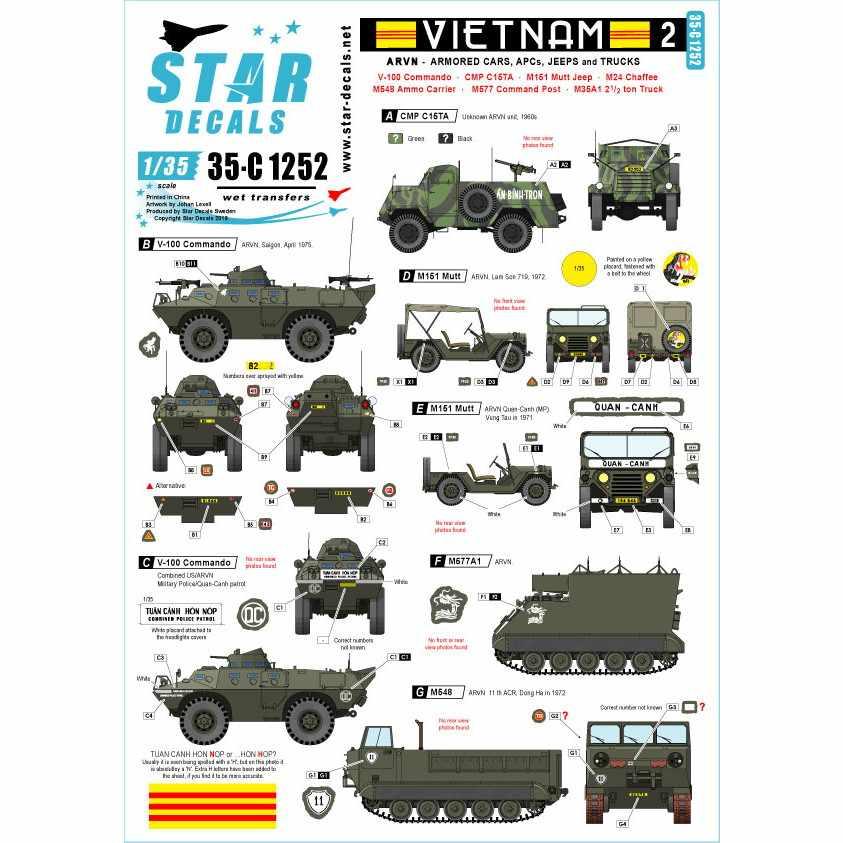 【新製品】35-C1252 ARVN#2 南ベトナム陸軍所属のAFV V-100コマンドー/M8他