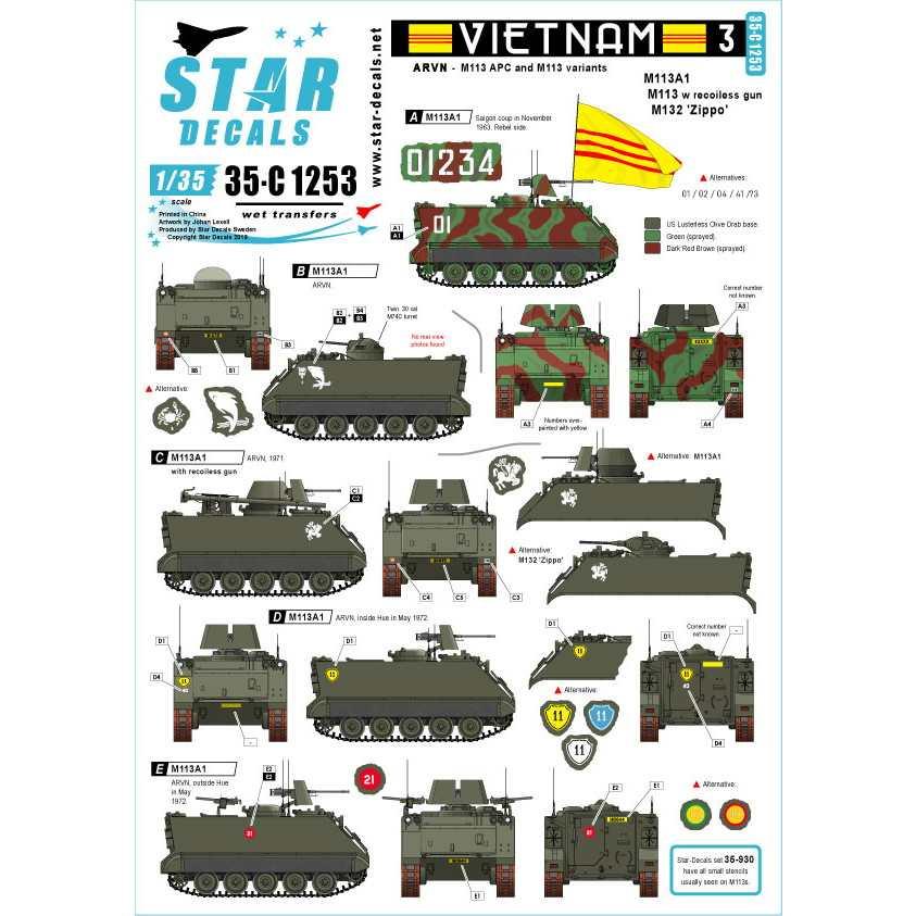 【新製品】35-C1253 ARVN#3 南ベトナム陸軍所属のM113