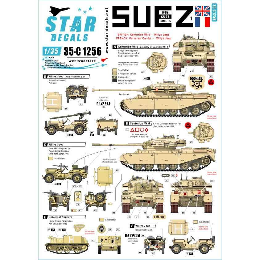 【新製品】35-C1256 中東戦争 1956年スエズ危機#1英軍及びフランス軍所属の戦車と装甲車