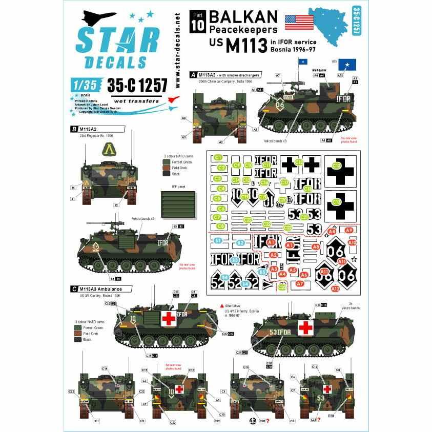 【新製品】35-C1257 バルカン半島の平和維持軍#10 IFORのマーキングが施された米陸軍所属のM113