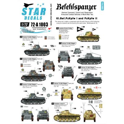 【新製品】72-A1003)WWII 独 I/II号指揮戦車 デカールセット