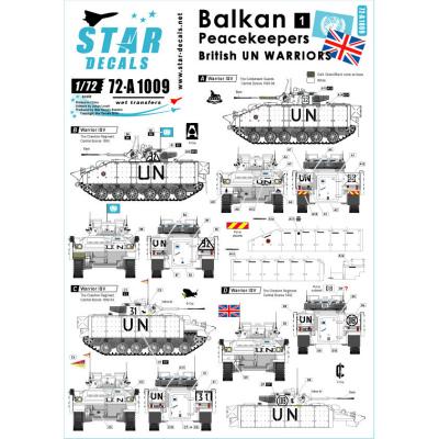 【新製品】72-A1009)バルカン半島の平和維持軍 #1 デカールセット 英ウォリアー