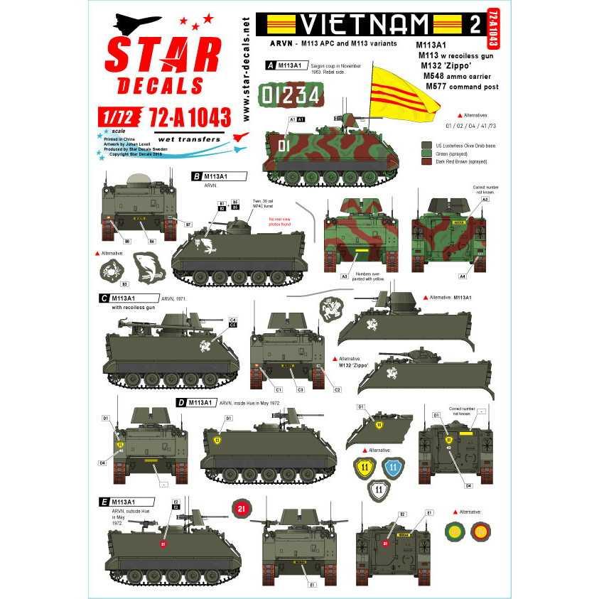 【新製品】72-A1043 ARVN#2 南ベトナム陸軍所属のM113