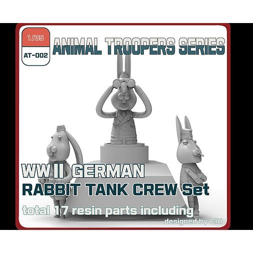 【新製品】AT-002 1/35 WWII ドイツ ラビット 戦車兵セット(3体)