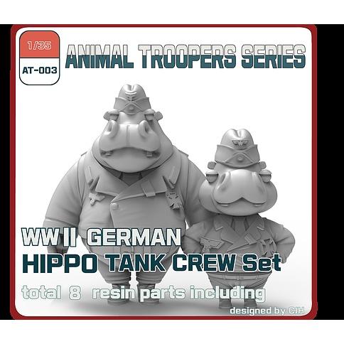 【新製品】AT-003 1/35 WWII ドイツ ヒッポ 戦車兵セットA(2体)