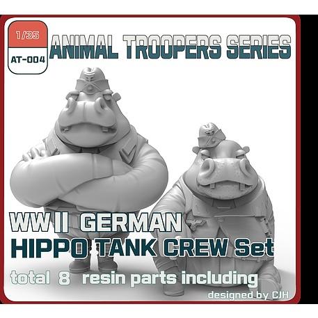【新製品】AT-004 1/35 WWII ドイツ ヒッポ 戦車兵セットB(2体)