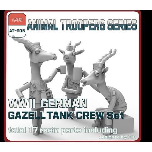 【新製品】AT-005 1/35 WWII ドイツ ガゼル 戦車兵セット(3体)