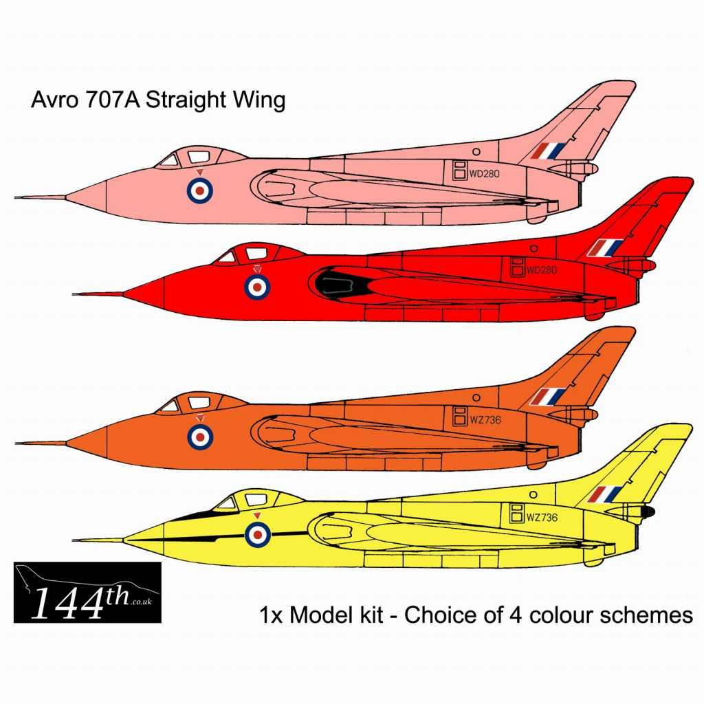 【新製品】144001 アブロ 707A デルタ翼実験機 ストレートウイング
