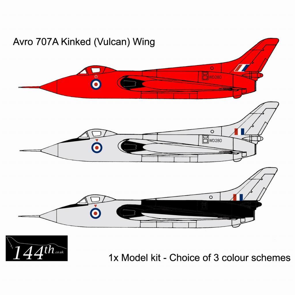 【新製品】144002 アブロ 707A デルタ翼実験機 バルカンウイング