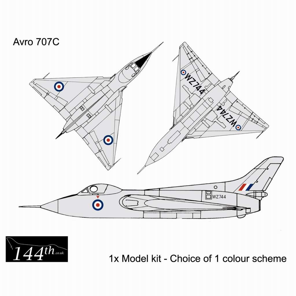 【新製品】144003 アブロ 707C デルタ翼実験機 複座型